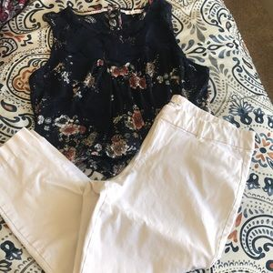 Petite white pants